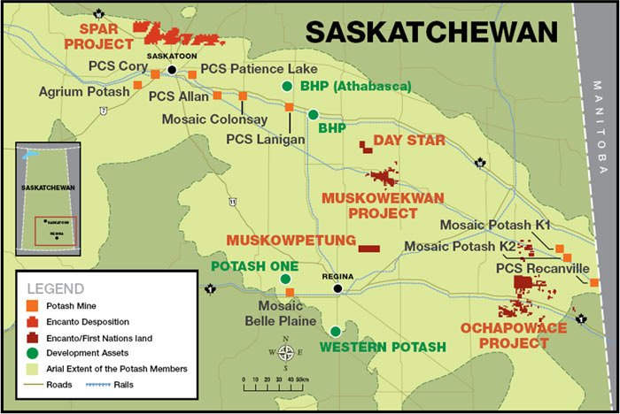 Encanto Potash Mine Built on First Nation Reserve Will Make First Nations a Global Exporter