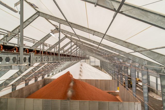 Long-lasting solution for potash storage and distribution